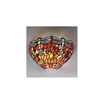Interiors 1900 T077W + WF1 Flame Dragonfly Single Light Wall Uplighter