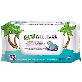 Attitude hypoallergenic baby wipes 72 units eco
