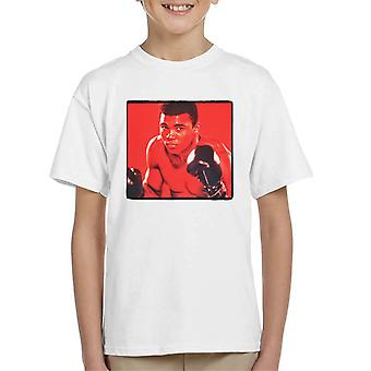 Muhammad Ali Boxing Gloves Vintage Photo Kid's T-Shirt