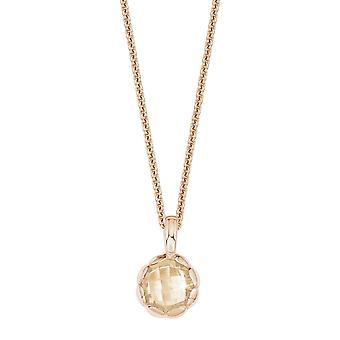 s.Oliver juvel damer halskjede sølv Zirkonia Rosé SO1419/1-9236664