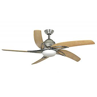 Ceiling Fan Viper Steel / Maple with Light 137 cm / 54