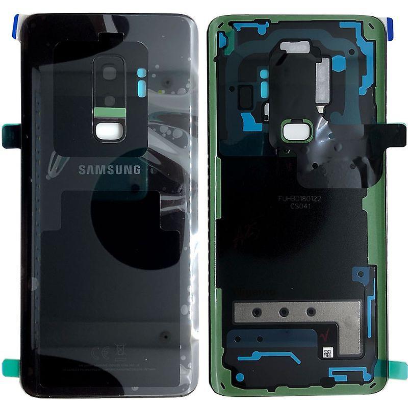 Samsung GH82-15652A batteri dekke dekselet for Galaxy S9 pluss G965F + lim pad svart midnatt svart nye