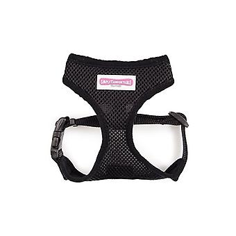 Comfortable Dog Harness Black - XS 28-40cm chest