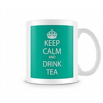 Gardez le calme et buvez tasse de thé Imprimé