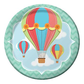 Babyballoon baby party plate 23Ø 8 piece children birthday theme party