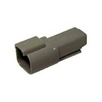 TE Connectivity DT04-2P Bullet connector Plug, straight Series (connectors): DT Total number of pins: 2 1 pc(s)