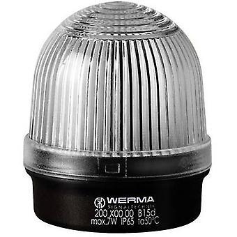 Light Werma Signaltechnik 200.400.00 White Non-stop light signal 12 V AC, 12 Vdc, 24 V AC, 24 Vdc, 48 V AC, 48 Vdc, 110 V AC, 230 V AC