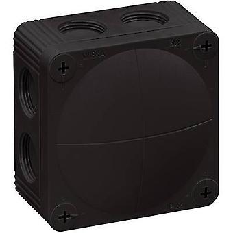 Wiska 10060581 Junction box (L x W x H) 85 x 85 x 51 mm Black IP66