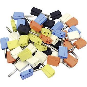 Spina, spina WAGO Jack dritto perno di diametro: 4 mm nero, giallo, blu, bianco, arancio 50/PC