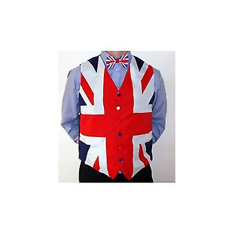 Union Jack Wear Union Jack Waistcoat And Bow Tie