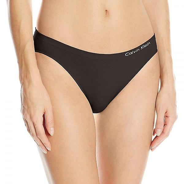 Calvin Klein Women Pure Seamless Bikini Brief, Black, Large