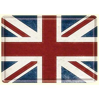 Unionin lippu metalli postikortti / mini merkki