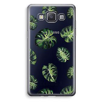 Caja transparente Samsung Galaxy A3 (2015) (Soft) - hojas tropicales