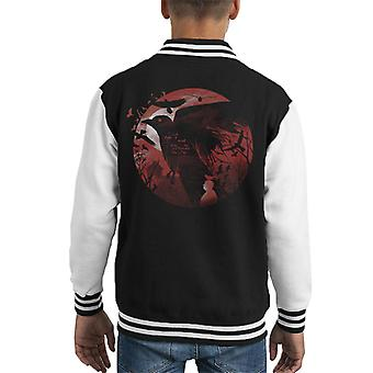 Alfred Hitchcock Silhouette The Birds Kid's Varsity Jacket
