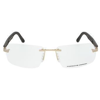 Porsche Design P8233 C Rectangular | Gold/Matte Grey| Eyeglass Frames