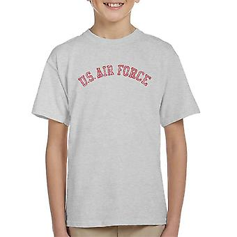 US Airforce Training Red Text Distressed Kid's T-Shirt