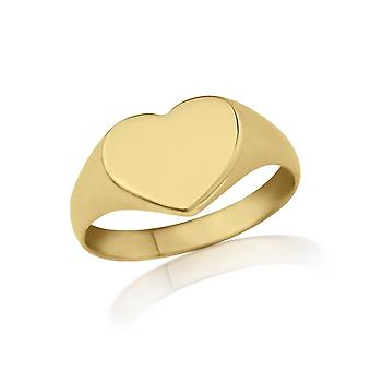 Star Wedding Rings Gold Heart-Shaped Signet  Ring