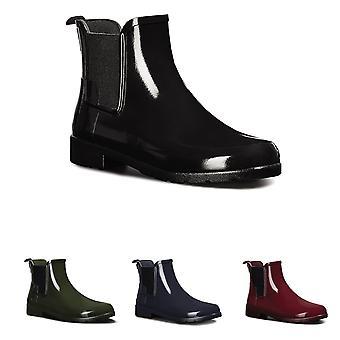 Womens Hunter Original raffinerade Chelsea Gloss vattentät Wellie Ankle Boot