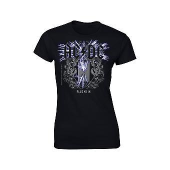 Ac/Dc  Plug Me In Girlie T-Shirt