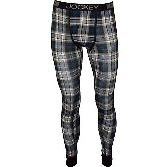 Jockey Cotton Modal Stretch Long Johns, Stone Grey Tartan