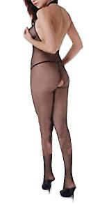 Waooh 69 - Combination In Stockings Open Collar Halter Sorianna