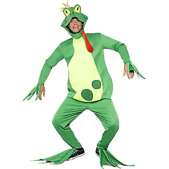 Frog Prince Costume, Top with Attached Gloves, One Size