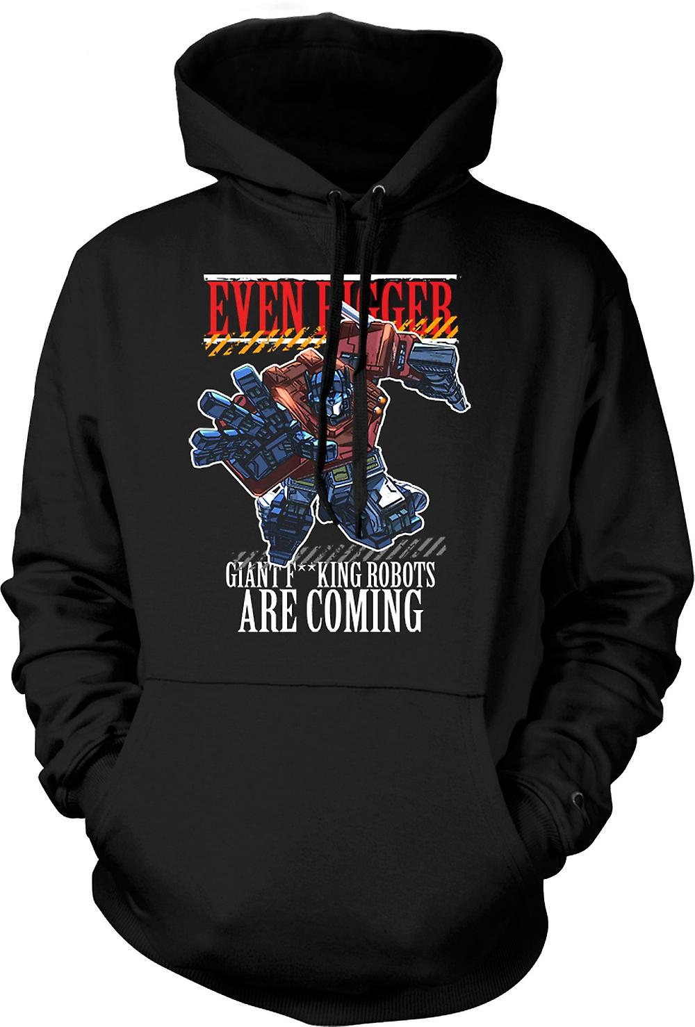 Mens Hoodie - Transformers Giant - F*cking Robots
