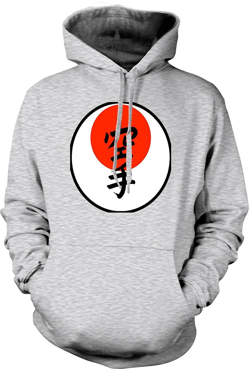 Para hombre con capucha - lema japonés - Cool