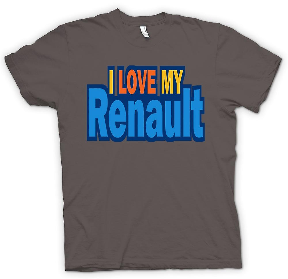 Womens T-shirt - I Love My Renault - Car Enthusiast