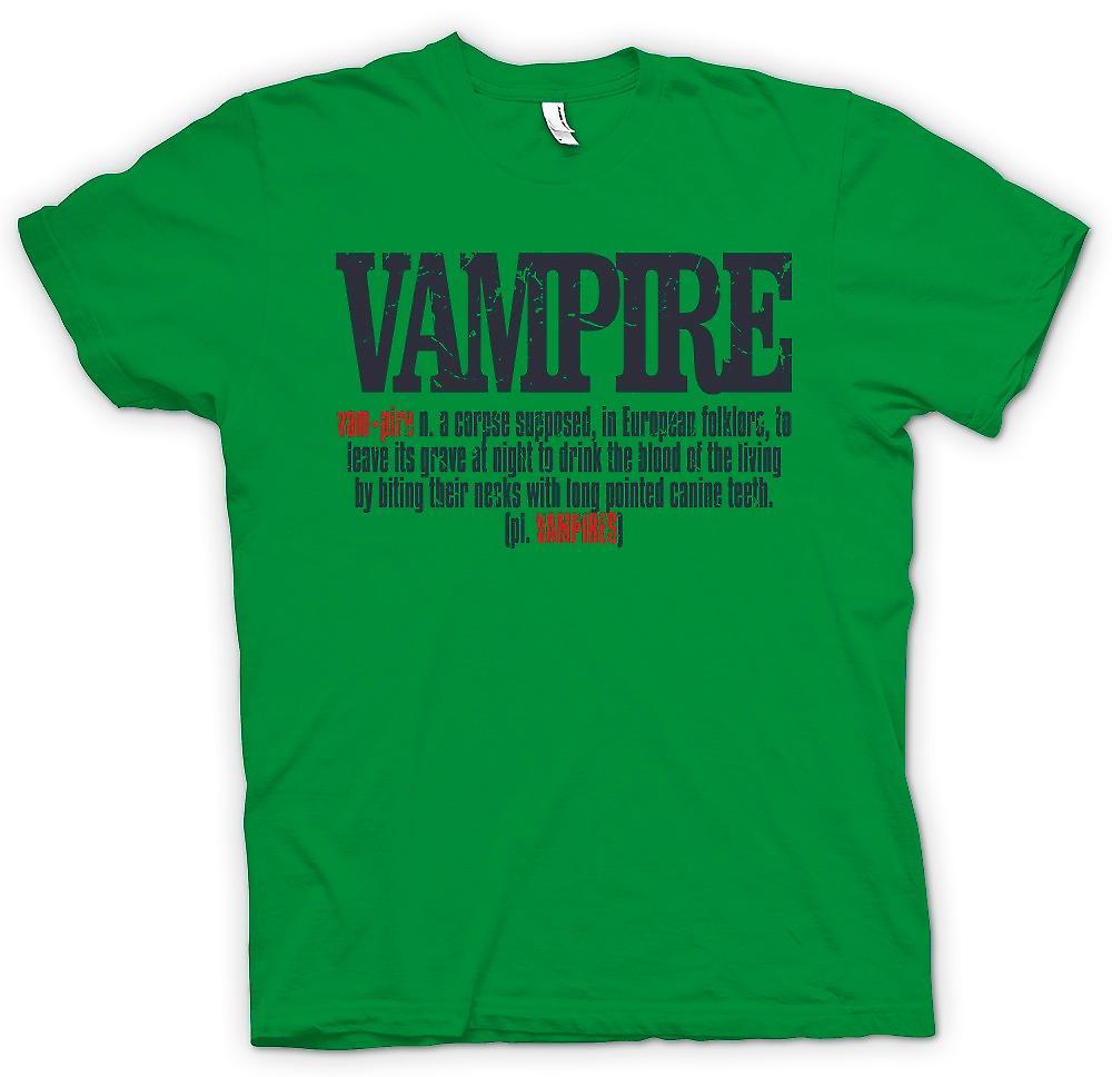 Mens T-shirt - définition de Vampire - Design Cool