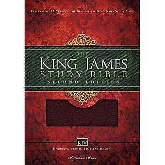 KJV Study Bible Bonded Leather Burgundy (Nelson Kjv Signature)