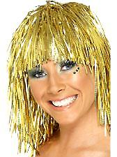 Cyber Tinsel Wigs Gold