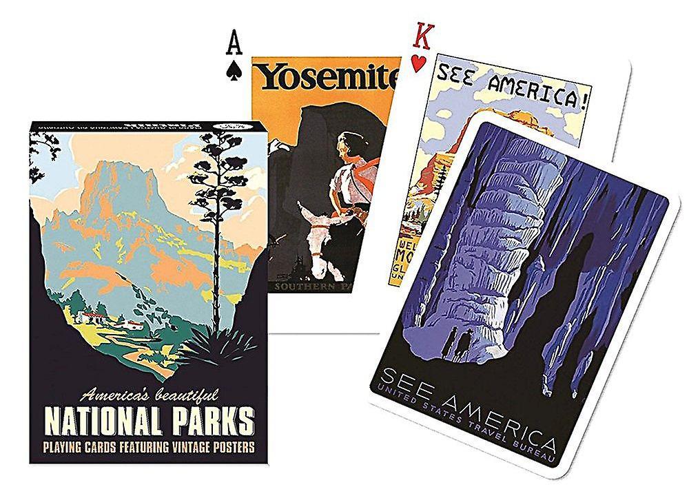Americas vackra nationalparker uppsättning 52 spelkort + jokrar (gib)