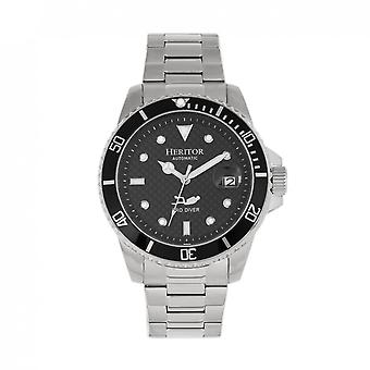 Heritor Automatic Lucius Bracelet Watch w/Date - Silver/Black