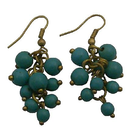 Turquoise Cluster Earrings Express The Flavor Effervescence Earrings