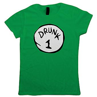 Drunk Thing, Womens T Shirt | St Patricks Day Funny Irish Paddys Drinking Holiday Novelty Hen Do Party Fancy Dress Beer Costume | Red Green Numbers 1 - 9