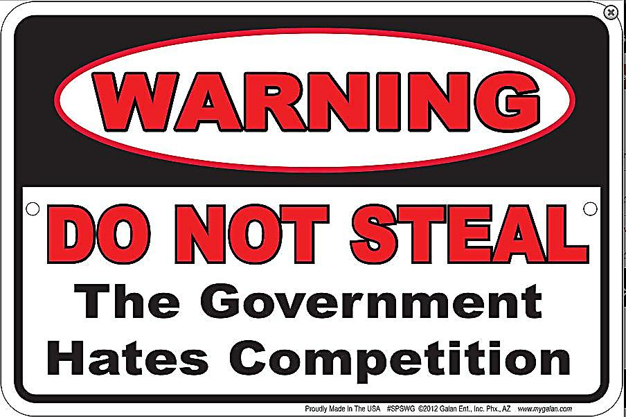 Warning Do Not Steal..Government.. embossed metal sign  (ga)
