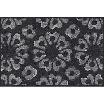 Salon lion paillasson bloc graphite impression porte tapis runner