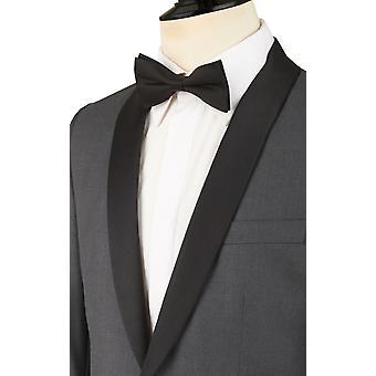 Dobell Mens węgiel Tuxedo kolacji marynarka Slim Fit kontrast szal klapie