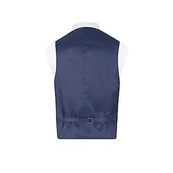 Dobell Mens Navy Waistcoat Regular Fit 5 Button