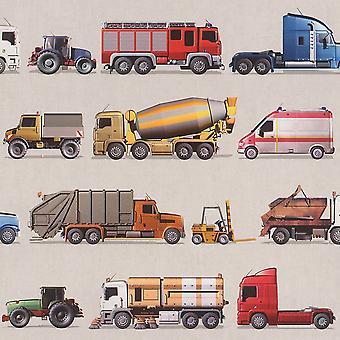 Rasch, camions, tracteurs véhicules transporteurs Ambulance Wallpaper enfants ados garçons