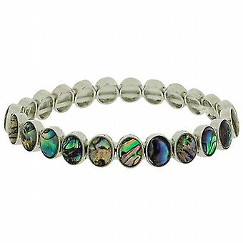 The Olivia Collection Ladies Paua Shell Oval Shaped Link Bracelet 6 Inches