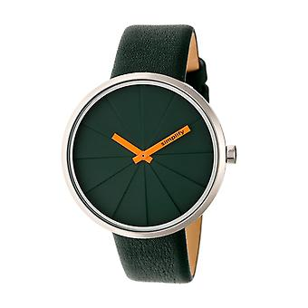 Simplify The 4000 Leather-Band Watch - Forest Green