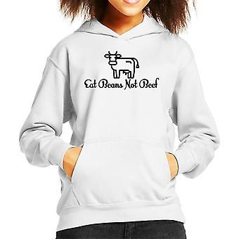 Eat Beans Not Beef Kid's Hooded Sweatshirt