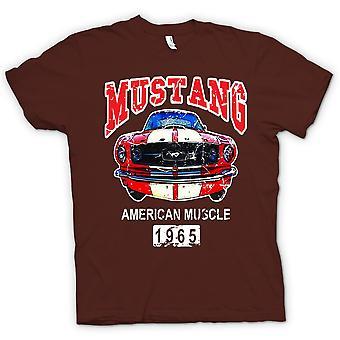 Heren T-shirt-Mustang 65 spier - auto - Classic U.S. auto