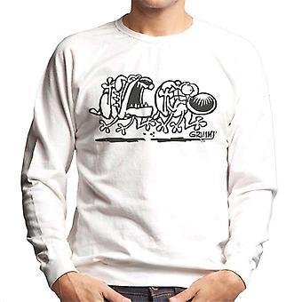 Grimmy Dog Chase Men's Sweatshirt