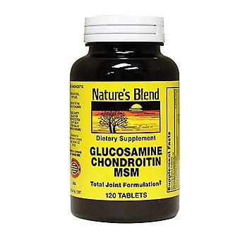 Nature's mix glucosamine chondroitin msm, tabletten, 120 ea