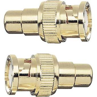 Oehlbach BNC / RCA Adapter [1x BNC plug - 1x RCA socket (phono)] Gold gold plated connectors