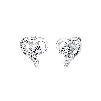 Elli Earrings women's pin in silver 925 with Swarovski Crystals