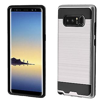ASMYNA Silver/Black Brushed Hybrid Case for Galaxy Note 8